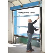 New Spring-loaded Roll-up Screen Door For 8 X 9 Opening-under Header Mount-blue