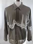 Kenneth Cole New York Long Sleeve Button Up Menandrsquos Shirt Size Xxl - Runs Small