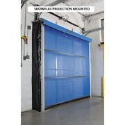 New Motorized Roll-up Screen Door For 8 X 10 Opening Surface Mount - Blue