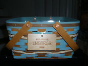 Longaberger Delaware State Cake Basket Set, W/ Riser, Protector And Tie-on New