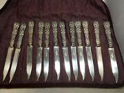 12 Antique And Co Sterling Silver English King Fruit Dessert Knives