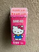 Hello Kitty 40th Anniversary Le Band Aid Collectible Tin And Band Aids Rare New