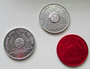 Alcoholics Anonymous 24 Hours 1 Month Recovery Tokens Coins Mixed Lot Of 3