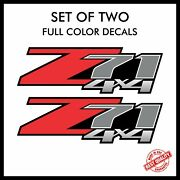 2x Z71 4x4 Decals Stickers Full Color Vinyl Truck Set Z Red   72