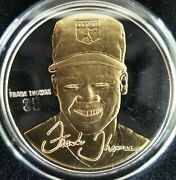 Frank Thomas Signature Series Highland Mint Fine Silver And Gold Coin And Coa Card