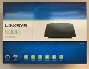 Linksys N300 Wi-fi E1200 300 Mbps 4 Ports Wireless-n Router W/ Install Cd And Box