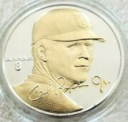 Cal Ripken Signature Series Highland Mint Fine Silver And Gold Coin And Coa Card