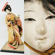 Doll Japanese Antique Komachi Dolls Fabric And Eyes Glass Japan Asia Asian