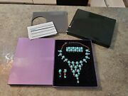 Suzanne Somers Parisian Elegance Turquoise Crystal Bracelet Earrings Necklace