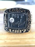1987 Final Four Diamond And Gold N.i.t. Championship Coachandrsquos Ring