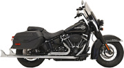 Bassani True Duals With Fishtail Mufflers 33 Chrome For 18-19 Harley Softail
