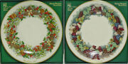 Rare Complete Set Of 13 Lenox Colonial Christmas Wreath Plates Mint In Boxes