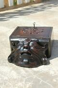 19th Century Rare Antique Demon Letter Box Wooden French