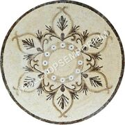 36 White Marble Dining Table Top Handmade Inlay Design Furniture Decor E1322