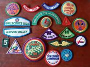 Lot Of 20 Vintage Girl Scouts Patches 1980-90and039s Era Upstate Ny Region Related