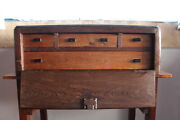 A Antique Nautical, Marine Continental Sea Captain's Jewelry Cabinet Chest Trunk