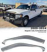 For 09-14 Ford F-150 Extended Cab Clip On Wellvisors Window Visors Deflectors
