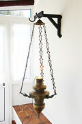 Portuguese 19th Century Baroque Brass Chandelier With Three Heads Of Angels