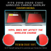 For 2016-2020 Honda Civic Wireless Charge Anti Scratch Skin Cover Decal - Matte