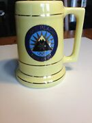 Lake Placid Fire Dept Stein - With Olympic Rings And Ski Jumps