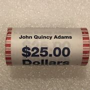 2008 Us Mint John Quincy Adams Presidential Dollar Coin Roll 25 Sealed Unopened