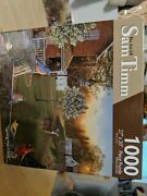 New 1000 Pc Puzzle Spring Has Come Artist Sam Timm Deer Birds Doe Small Cabin