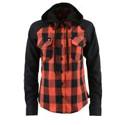 Nexgen Womenand039s Black And Red Cotton Long Sleeve Flannel Shirtmngmng21602