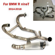 Motorcycle Full Exhaust System Connect Link Tube Muffler Pipe For Bmw R Nine T