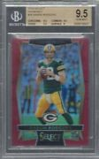 Aaron Rodgers 2016 Panini Select Red Prizm D 83/99 Bgs 9.5 Gem Mint Pop 1/1