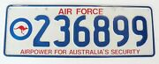 Rare License Number Plate - Australia's Air Force Security