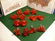 13 Hard Plastic Red Frosted Cabinet Knobs Drawer Pulls Kitchen Cabinet Handles