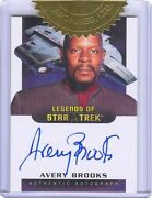 Deep Space Nine Heroes And Villains Avery Brooks 9-case Incentive Autograph Card