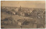 Liberal Kansas Real Photo Postcard Aerial View Of Town And Buildings 76892