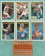 1988 O-pee-chee Seattle Mariners Team Set 14 - Mint From Vend Case