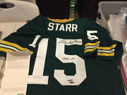 Very Rare Bart Starr Autographed Signed Green Bay Packers Jersey Le 15 Uda