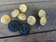 Collection Of 9 Wwii Era Usn Buttons