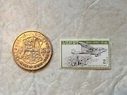1933 Great Britain Half 1/2 Crown Silver Coin Rare Stamp Lundy Island 2p 1929