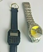 Lot Of 2 Men's Watches - Casio 437 Ca53w Wr And Frondini Swiss Parts