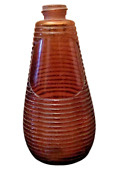 Antique Ribbed Bottle Gm Is 637 4 Bottom Embossed 12 Cm X 6 Cm Tall