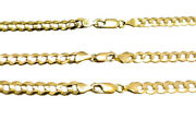 Authentic 14k Solid Yellow Gold Cuban Link Chain Necklace 4.5mm-7mm Size 16-30