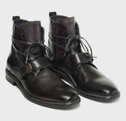 John Varvatos Leather Boot Shoe Made Italy - Sizes 9 And 13 Reg800 Sale599