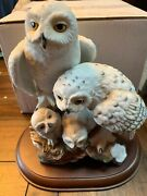 1989 Danbury Mint Katsumi Ito Snowy Owls From Personal Collection