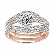 1.10 Ct Round Diamond 14k Rose Gold Men And Ladies Wedding And Engagement Rings