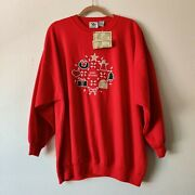 Vintage Nutcracker Womenand039s Ugly Christmas Sweater Size 22w Happy Holidays Red...
