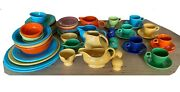 51 Piece Collection Of Original Homer Laughlin Vintage Fiestaware