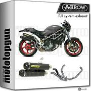 Arrow Racing Nocat Full Exhaust Round-sil Carbon C Ducati Monster S4r Ts 06/07