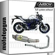 Arrow Racing Nocat Full System Exhaust Gp2 Titanium Yamaha Mt03 Mt 03 16/17