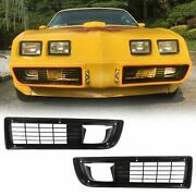 For 1979-1981 Firebird Trans Am Front Nose Bumper Cover Grille Insert Set Lh Andrh