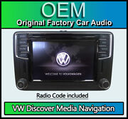 Vw Sat Nav Stereo Discover Media Volkswagen Dab Radio Cd Player Navigation Led