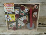 Melissa And Doug Make A Pizza Wooden Play Set Puzzle Pretend Educational New